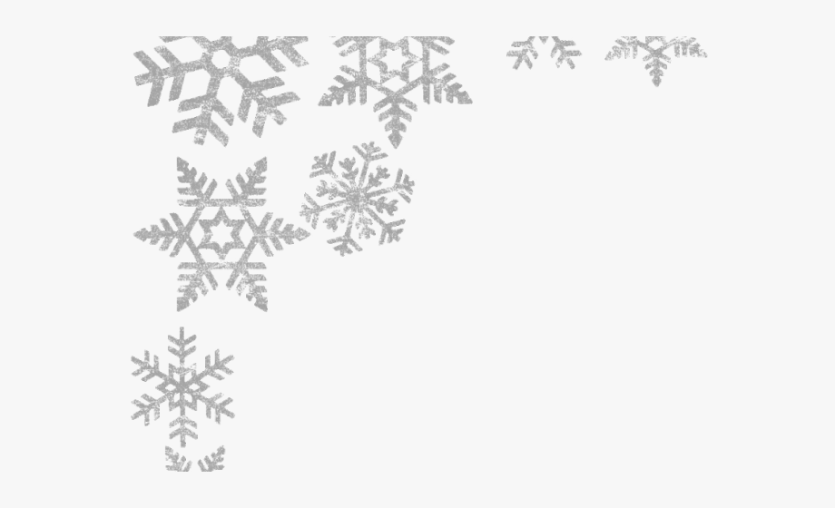 clipart royalty free download Free library . Snowflake border clipart transparent background
