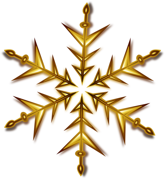 vector library Gold Snowflake Clip Art at Clker