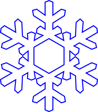 picture black and white download Snowflake Clipart Transparent Background