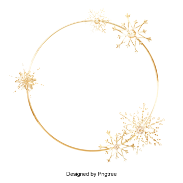freeuse stock Snowflake wreath clipart. Watercolor png vectors psd