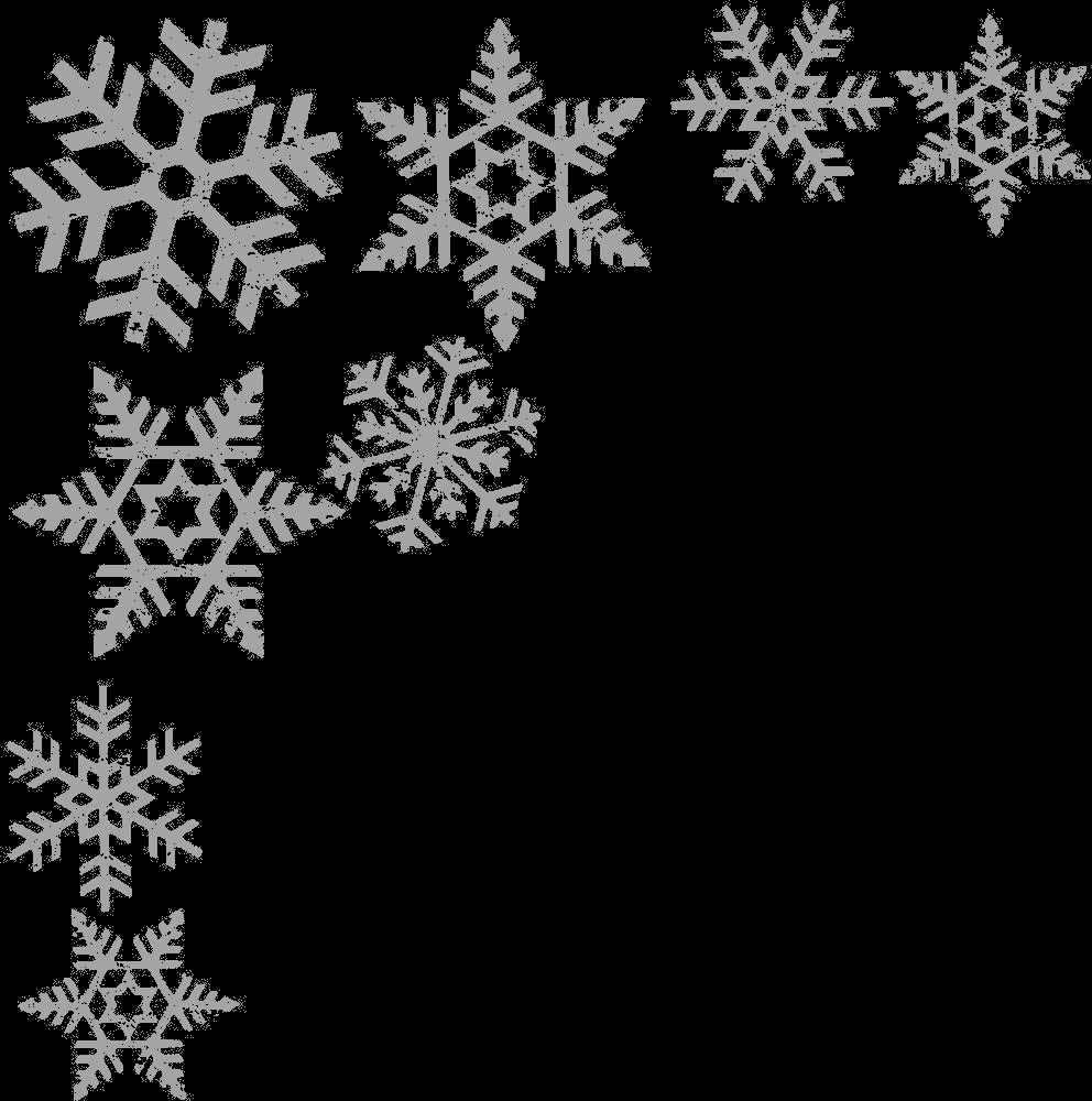 image stock Snowflake clip art border. Snowflakes clipart borders