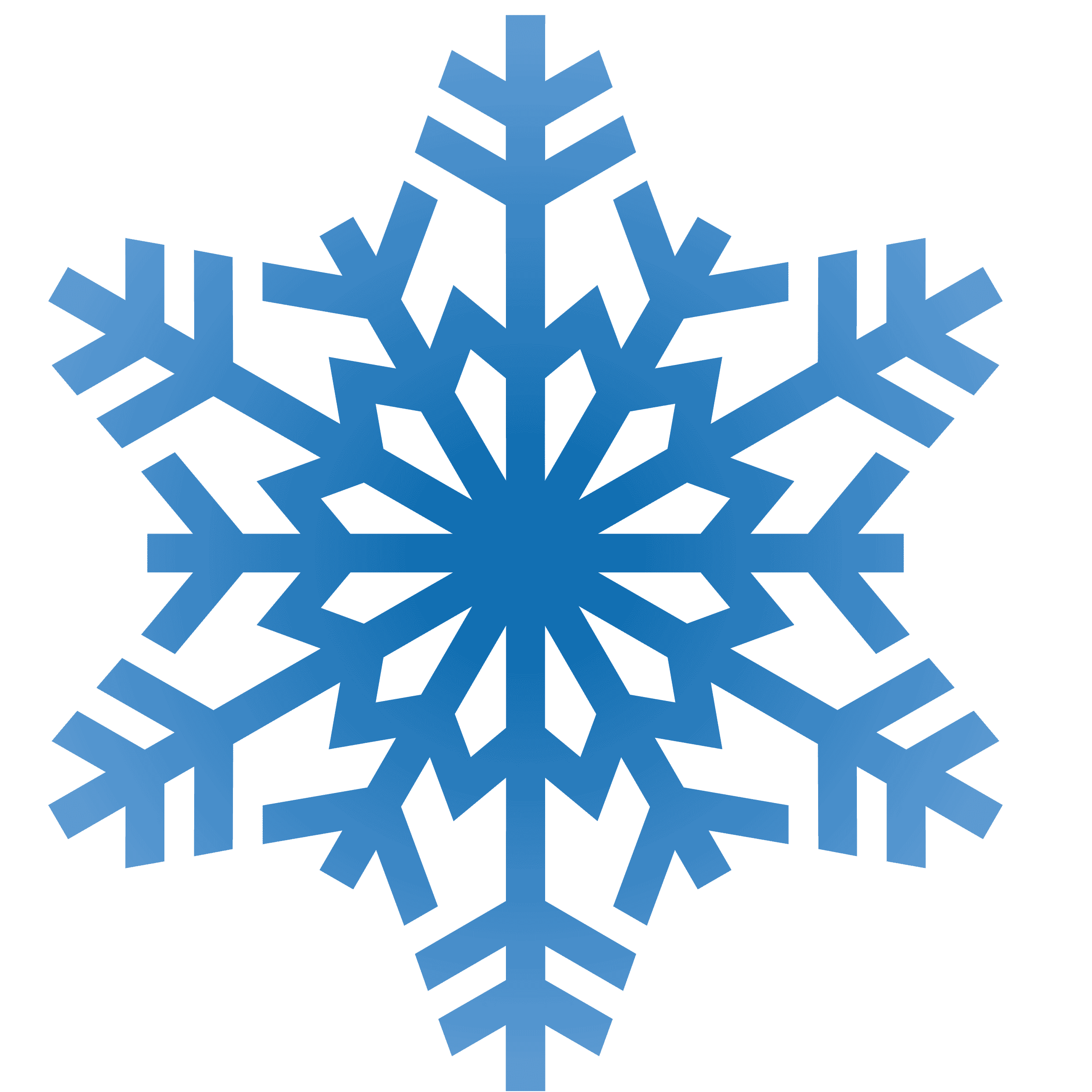banner transparent stock Snowflakes Clipart