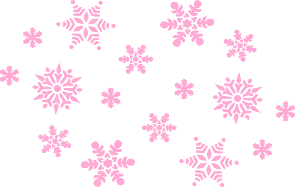vector free download Pale Pink Snowflakes Clip Art at Clker