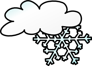 picture free library Winter cloud snow flake. Blizzard clipart inclement weather