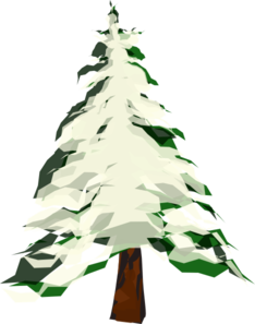 picture transparent With snow clip art. Snowing clipart tree.