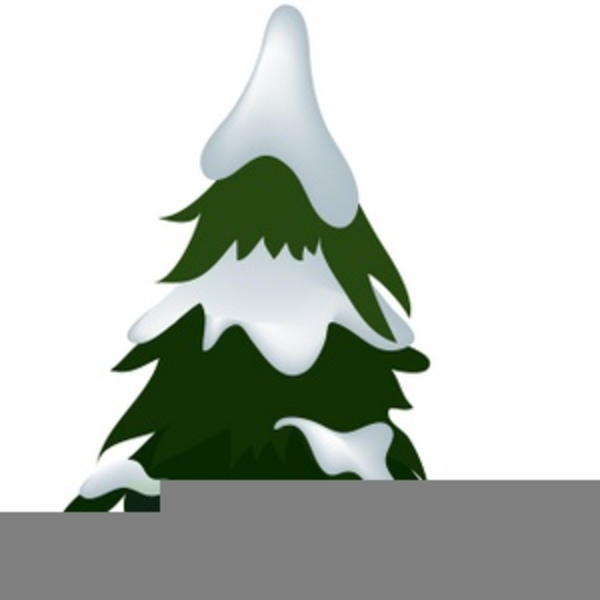 clip freeuse library Trees with snow free. Snowing clipart tree.