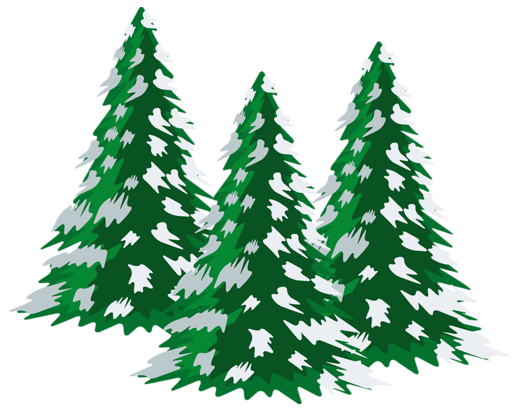 graphic royalty free Green snowy trees png. Snowing clipart tree.