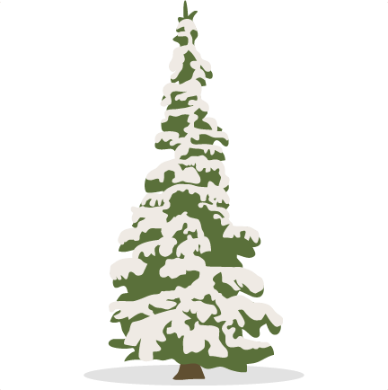 vector freeuse library Snowy svg scrapbook cut. Snowing clipart tree.