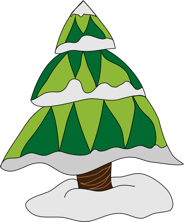 clip royalty free stock Pine snow covered free. Snowing clipart tree.