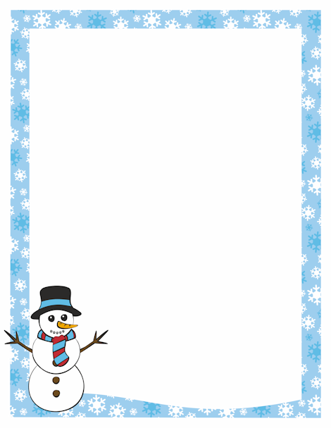 clipart free Pin by muse printables. Snowman border clipart
