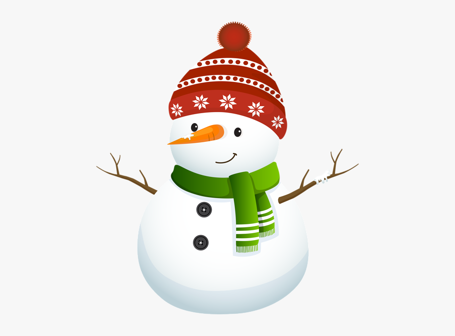 vector free stock Cute snowman black and. Snowmen clipart