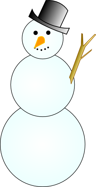 image transparent download Black and white snowman clipart. Another clip art at