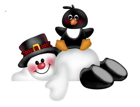picture freeuse stock SNOWMAN AND PENGUIN