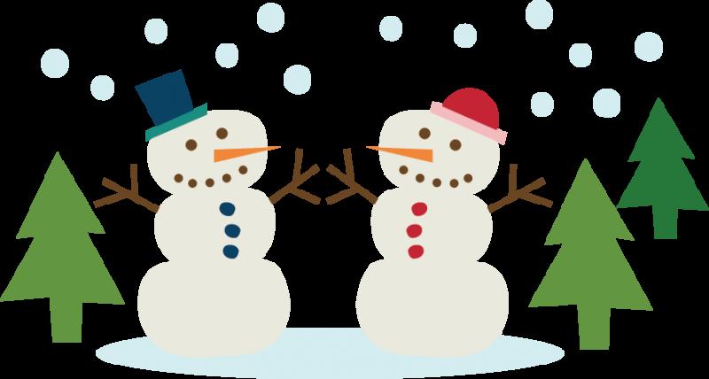 jpg black and white download Snowmen Couple SVG cutting file snowman svg cut winter svg cut files