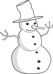 svg library Snowman Black And White Clipart