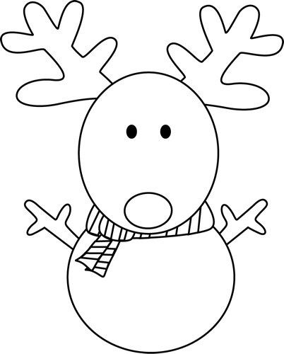 jpg library library Snowman face clipart black and white. Reindeer clip art wallpaper