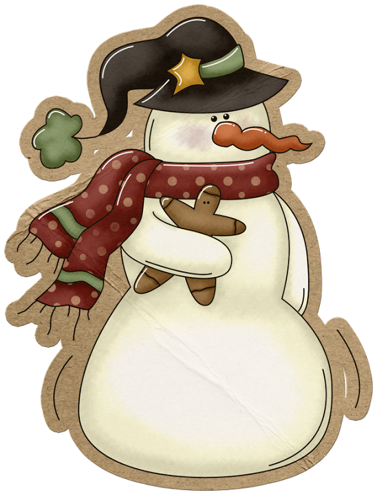 picture freeuse download snowmen clipart gingerbread #83616745