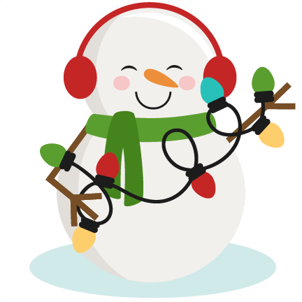 graphic black and white download Snowman With Christmas Lights SVG cutting files for scrapbooking
