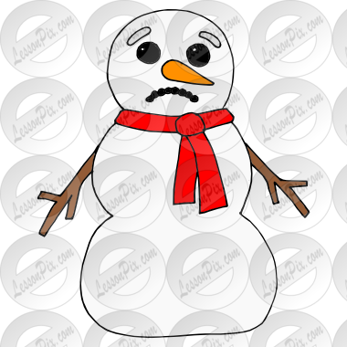 svg library stock Sad Snowman Picture for Classroom