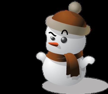 banner stock Snowman