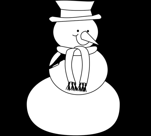 vector freeuse library Carson dellosa gclipart com. Black and white snowman clipart