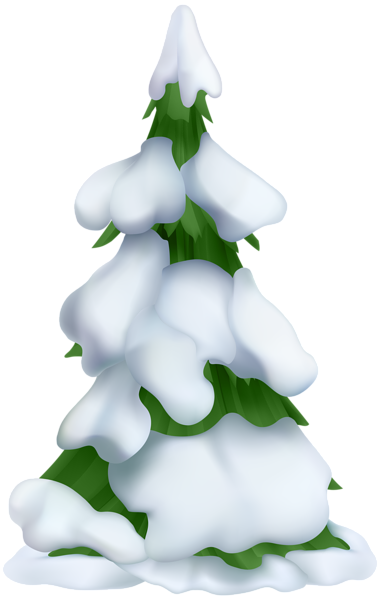 library Tree transparent png clip. Snowy clipart.