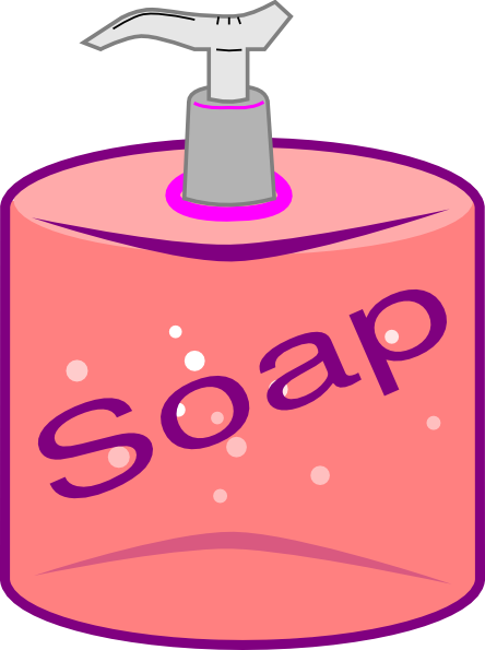 svg black and white library . Soap clipart.