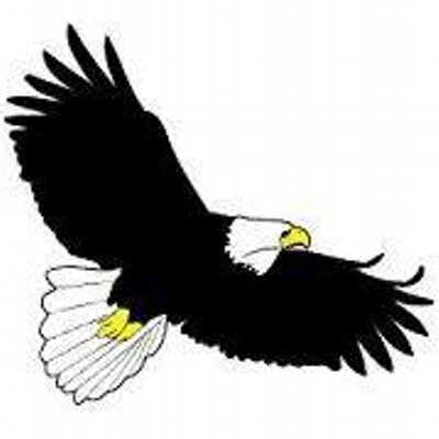 vector black and white library Eagles free download best. Soaring clipart.