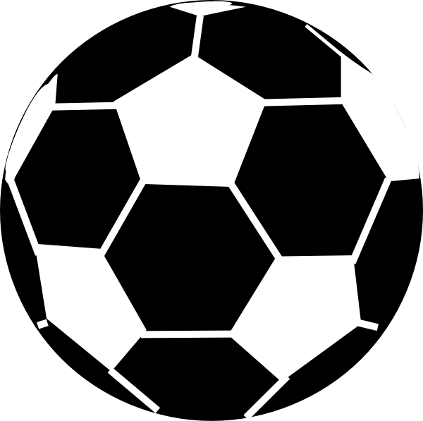 picture black and white library Sport balls clipart black and white. Soccer ball clip art