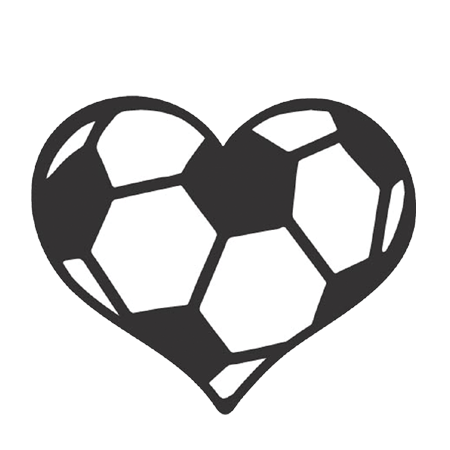 royalty free library Soccer Ball Heart Decal