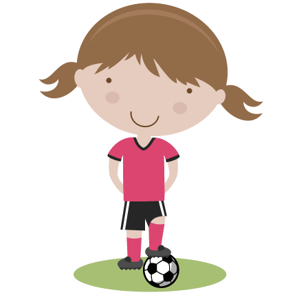 image black and white Girl Soccer Player SVG cutting file soccer svg cut files free svgs