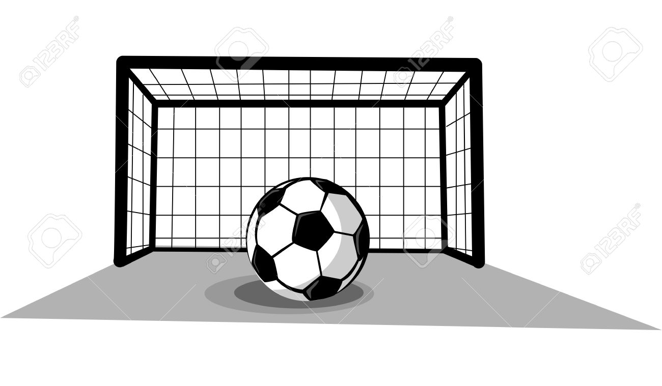 svg royalty free library Black and white station. Soccer goalie clipart
