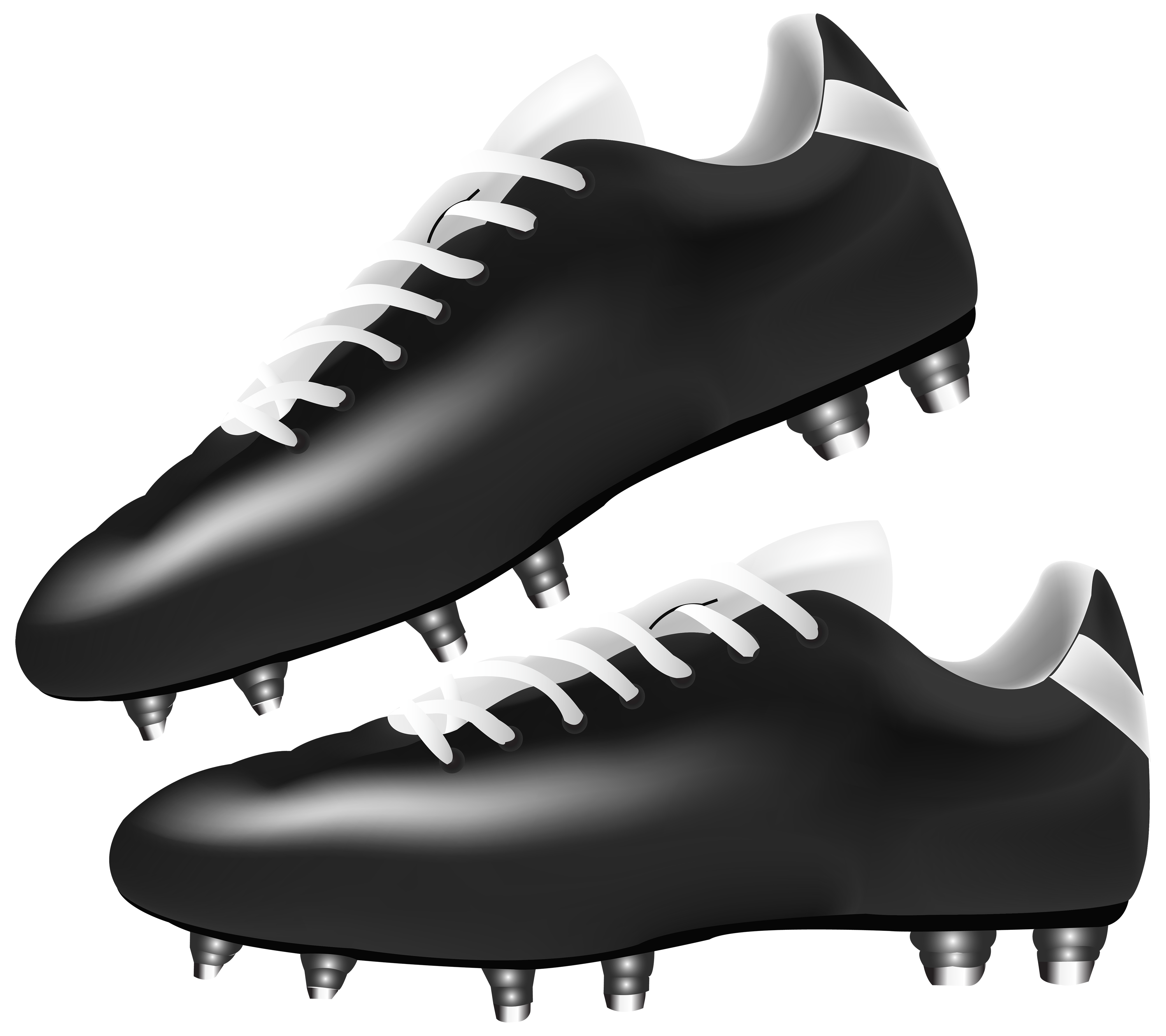 vector download Soccer cleats clipart. Black football boots png