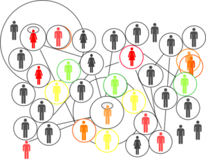 image transparent library Network in colours clip. Social clipart.