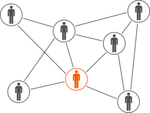 free library Network clipart. Grey and orange men.