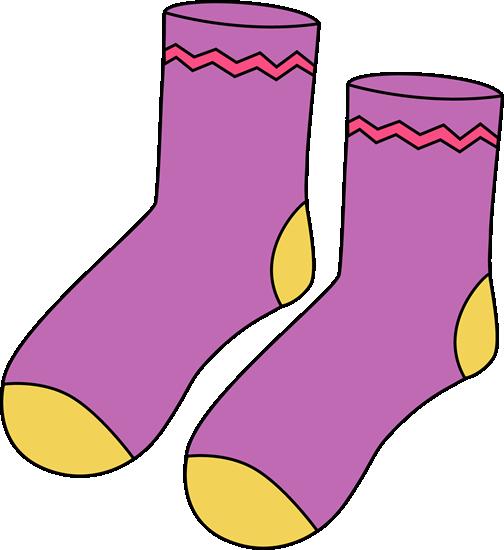 clipart freeuse download Sock clipart. Clip art images purple.