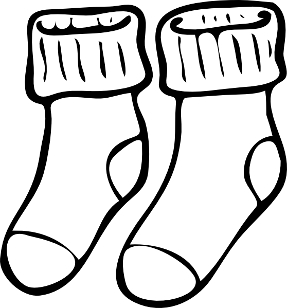 stock Stocking clipart black and white.  collection of crazy