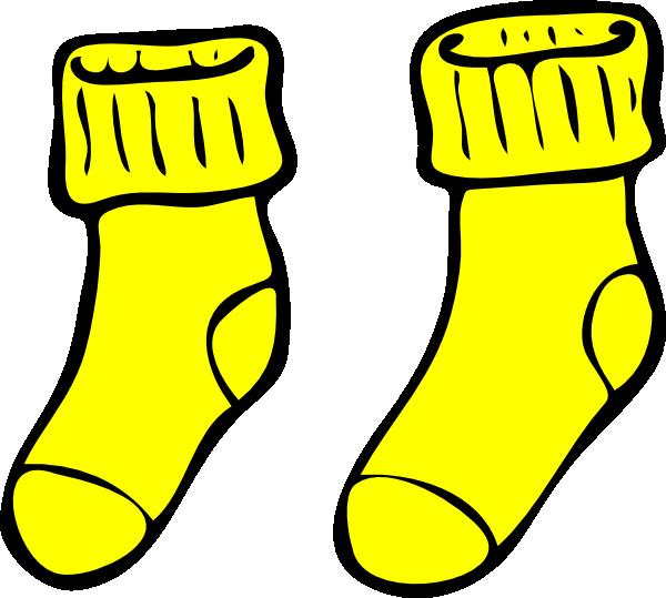 vector stock Yellow Socks Clip Art at Clker