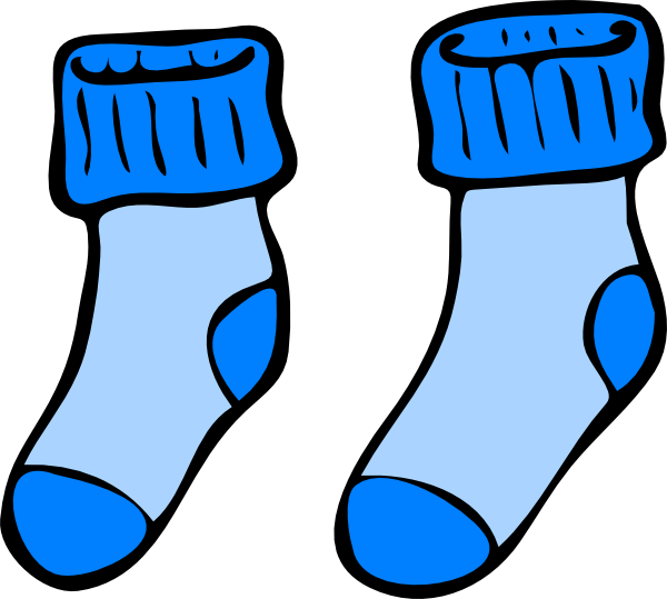 graphic royalty free download Blue Socks Clip Art at Clker