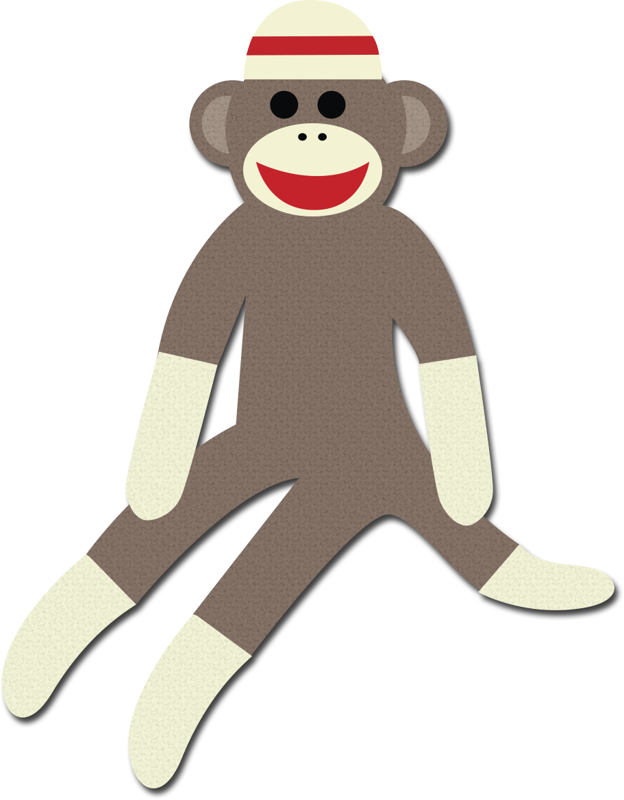 picture freeuse download Sock Monkey Clipart