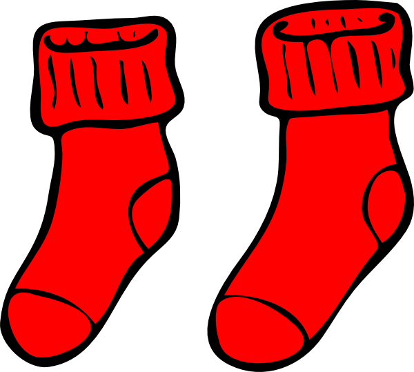 picture transparent Red Socks Clip Art at Clker
