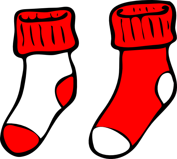 clip art royalty free stock Red And White Socks Clip Art at Clker