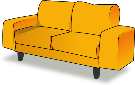 image black and white download Sofa Clipart
