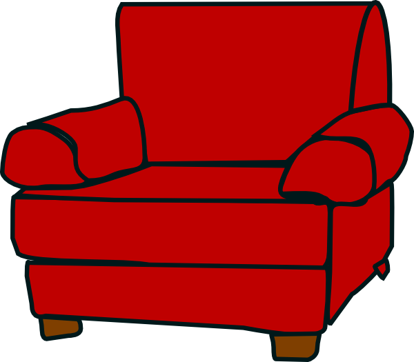 picture free stock Red Armchair Clip Art at Clker