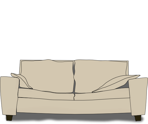 clipart royalty free library Couch Clip Art at Clker