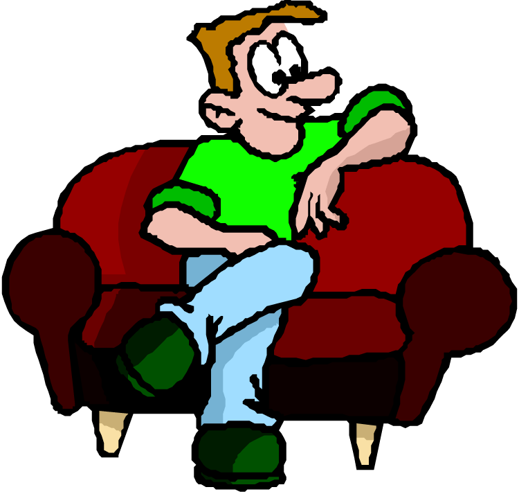 banner freeuse stock Image result for man on couch cartoon