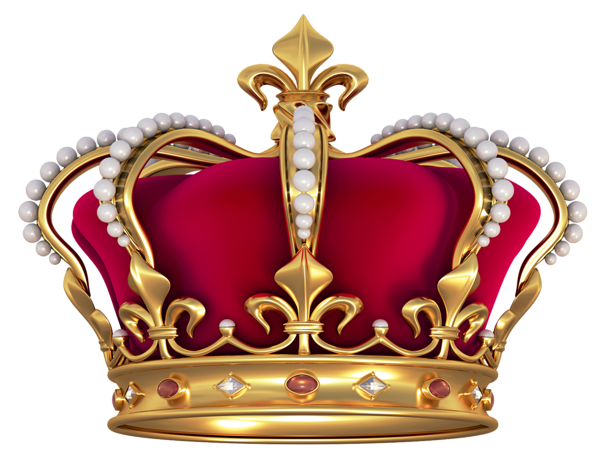 library French Crown with Pearls PNG Clipart Picture