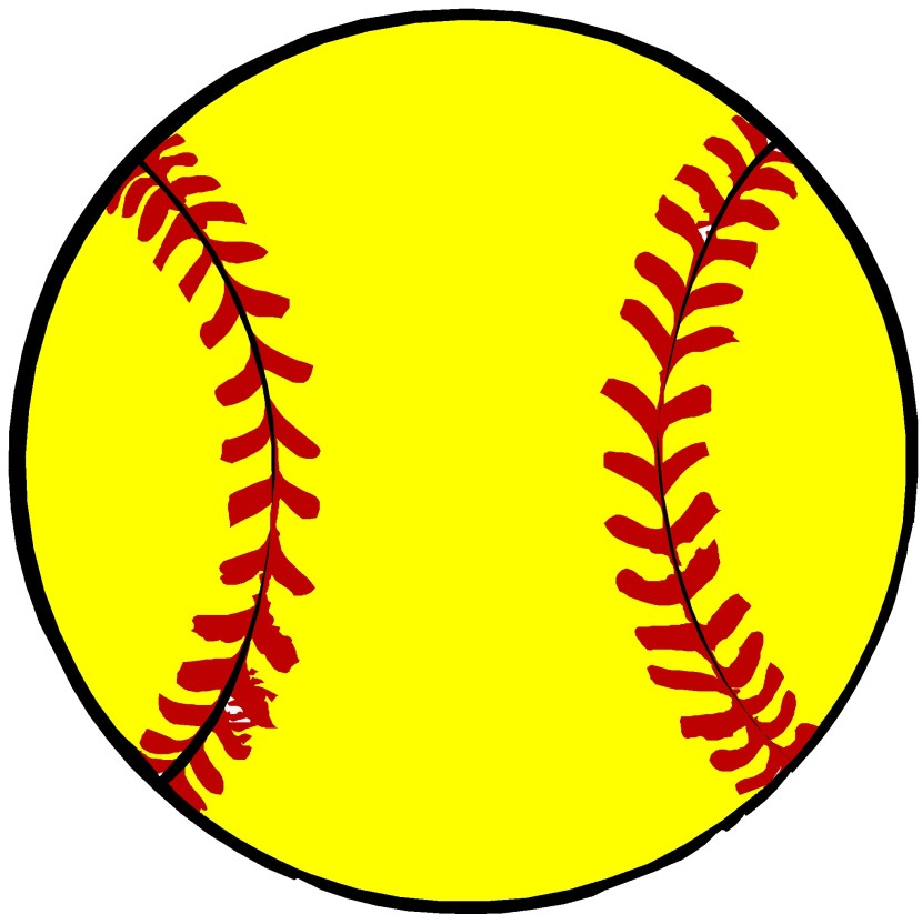 black and white Free cliparts download clip. Softball clipart.