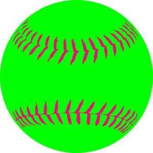 vector black and white Image of clip art. Softball clipart.