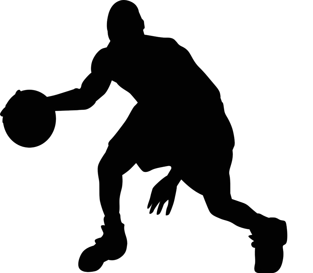 clip royalty free Silhouette sport art png. Basketball clip youth